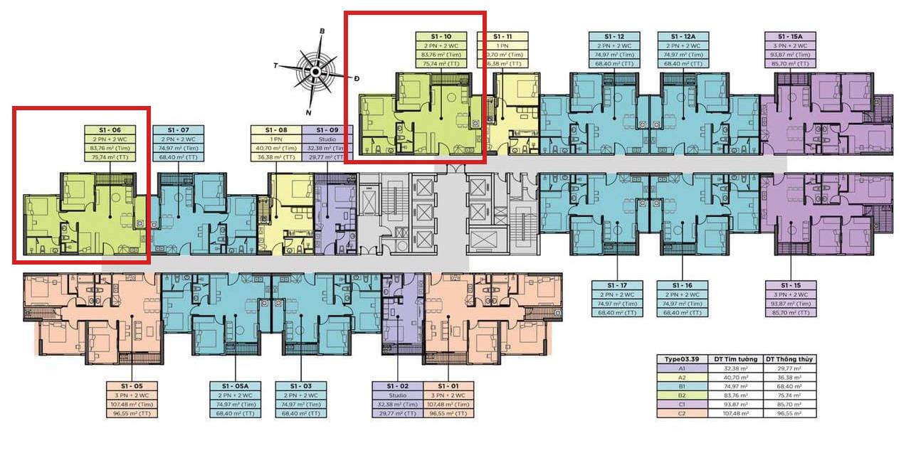 Vị trí căn hộ chung cư Sky Oasis Ecopark - 2PN+1 76m2
