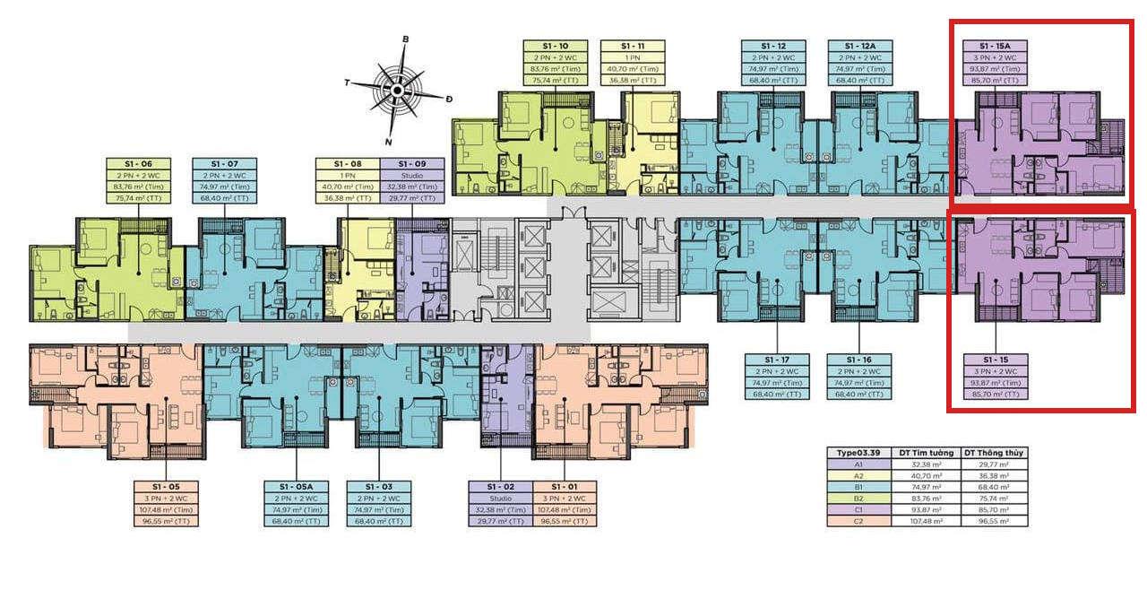 Vị trí căn hộ chung cư Sky Oasis Ecopark - 3PN 86m2