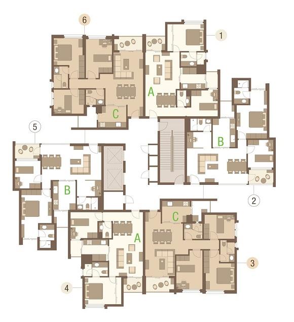 Mặt bằng căn hộ chung cư Rừng Cọ Ecopark