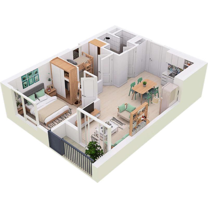 Căn hộ chung cư Westbay Ecopark - 50m2