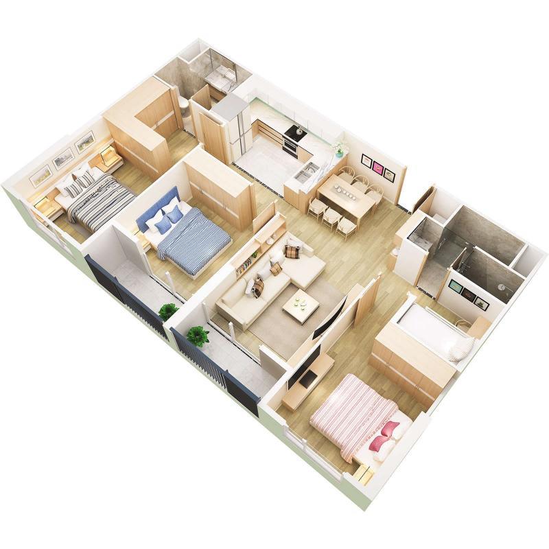 Căn hộ chung cư Westbay Ecopark - 90m2