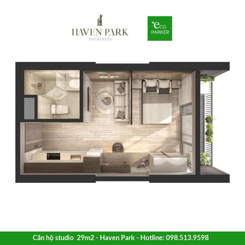 Căn hộ studio Haven Park Ecopark