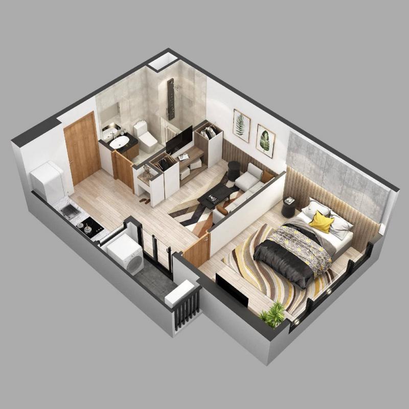Căn hộ chung cư Sky Oasis Ecopark - 1PN 40m2