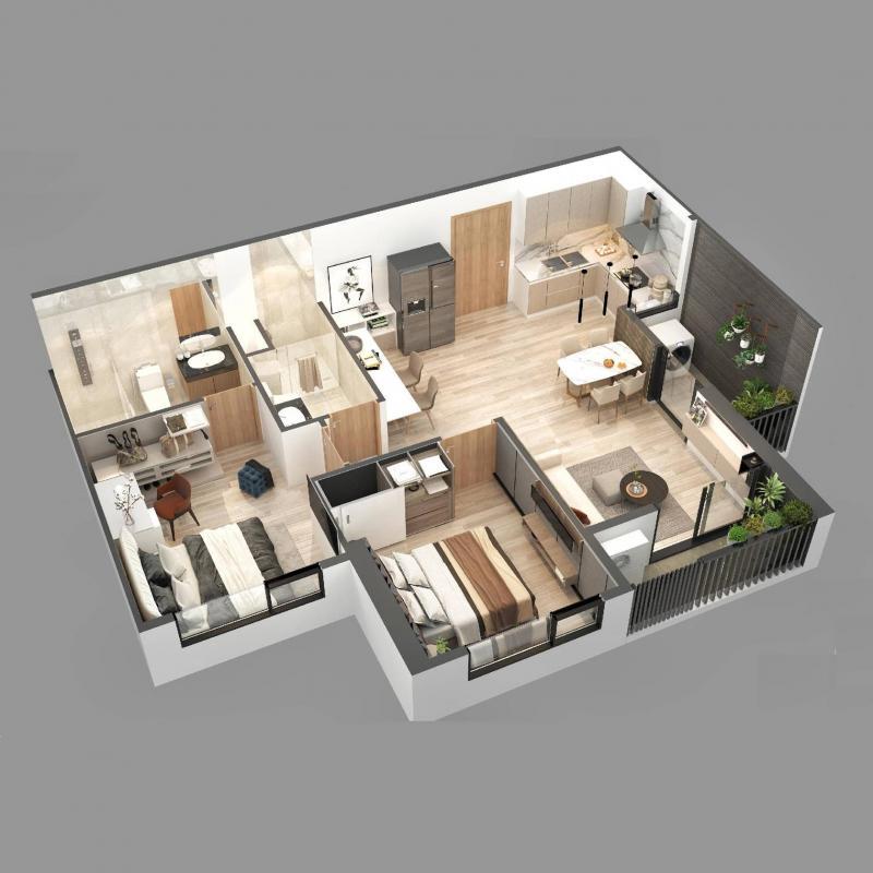 Căn hộ chung cư Sky Oasis Ecopark - 2PN 68m2