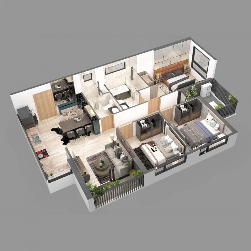Căn hộ chung cư Sky Oasis Ecopark - 3PN 86m2