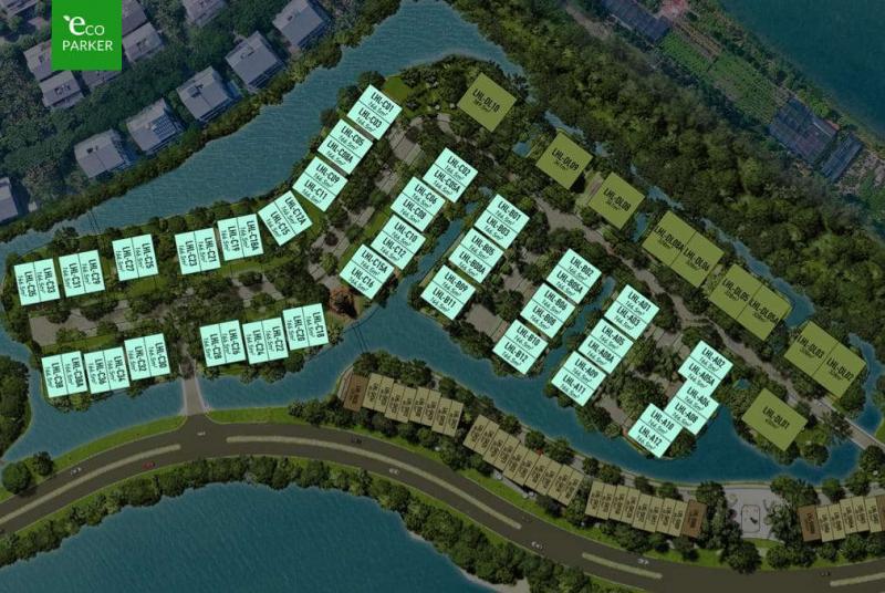 Sơ đồ phân lô biệt thự song lập Làng Hà Lan Ecopark
