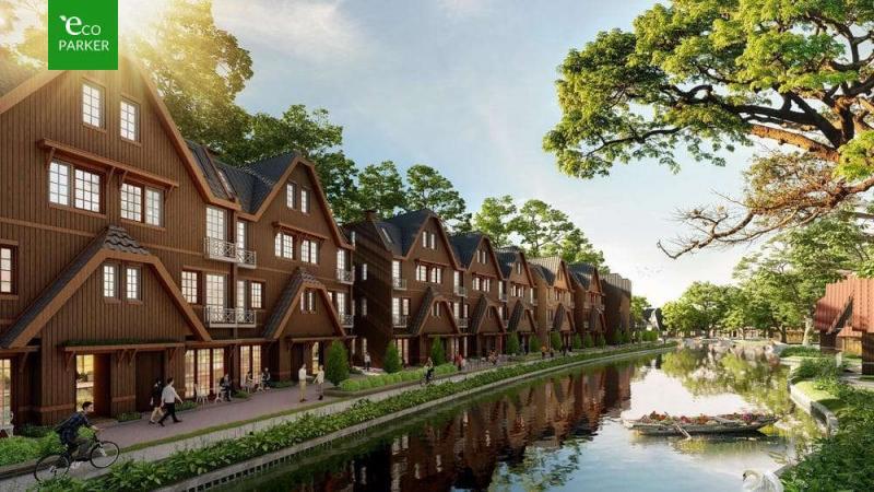 Nhà phố 3 mặt tiền Làng Hà Lan Ecopark