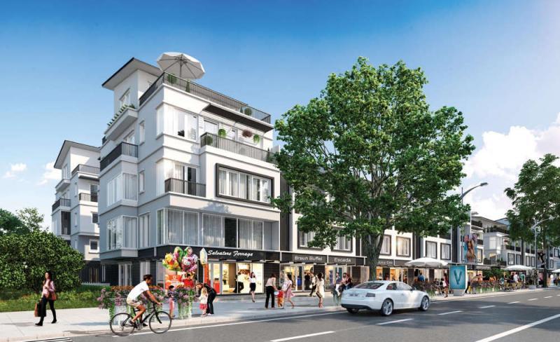 Nhà phố thương mại đầu hồi Thuỷ Nguyên Ecopark