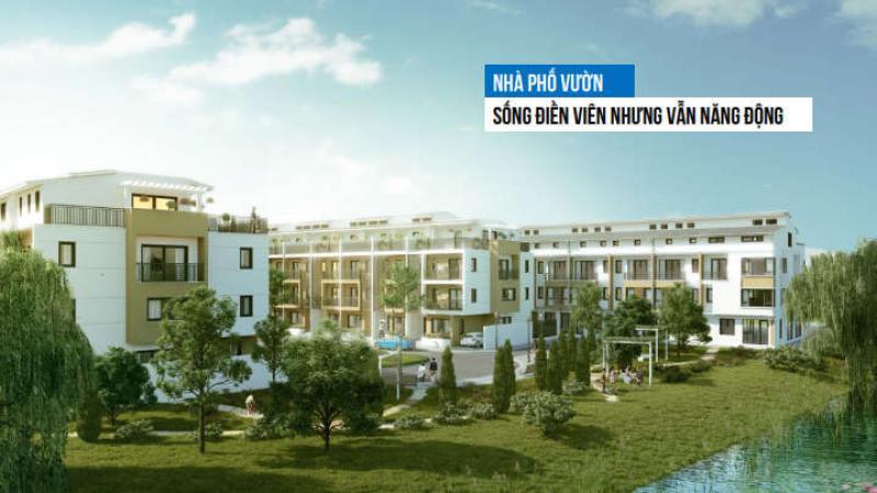 Nhà phố vườn liền kề khu 2B Park River Ecopark