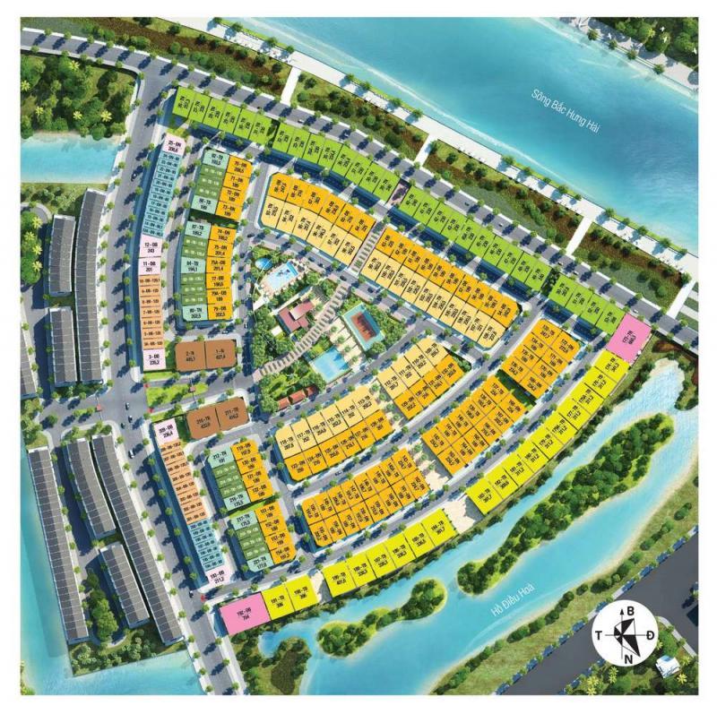 Mặt bằng khu nhà phố liền kề Park River Ecopark