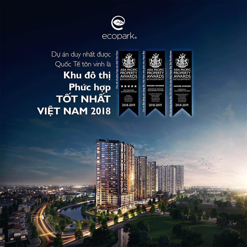 Ecopark đạt giải thưởng khu đô thị tốt nhất Việt Nam 2018